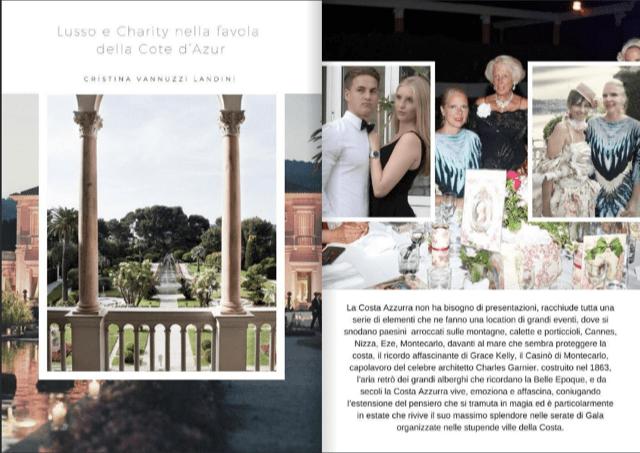 WINE & FASHION EUROPE MAG. - LUGLIO 2018 -LUSSO & CHARITY2